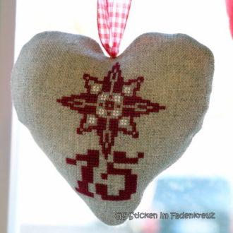 Eingepackt: Adventkalender-Herzen