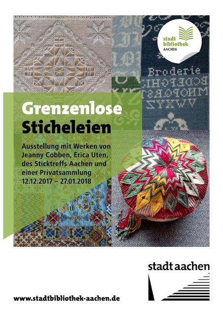 Plakat für die Stickausstellung