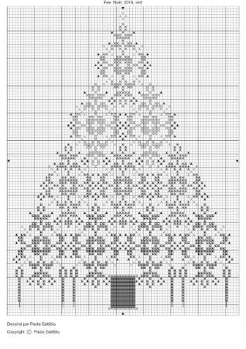 Stickvorlage für einen Tannenbaum