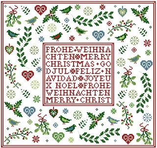 Unterm Mistelzweig - Weihnachtsmustertuch