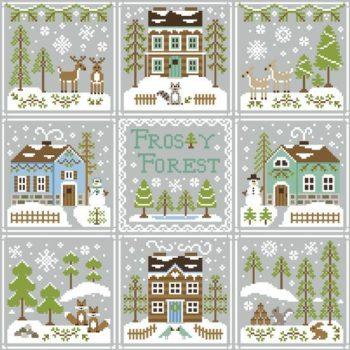 """""""Frosty Forest"""" von County Cottage Needleworks - alle Einzelvorlagen zu einem Bild zusammengestellt"""