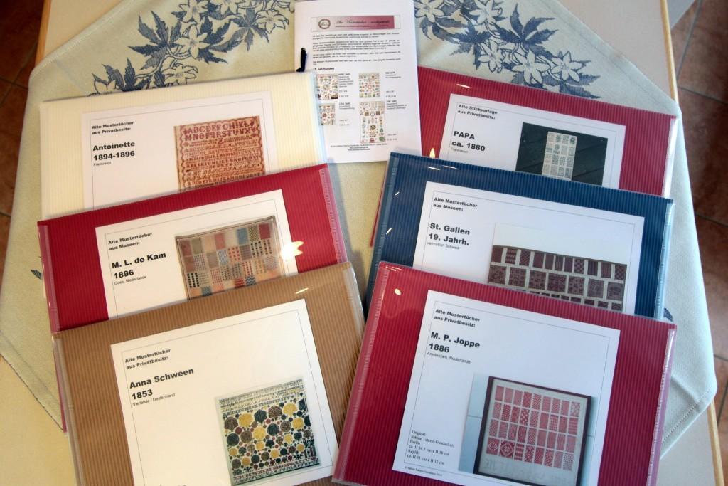 Auf dem Tisch: neue Stickvorlagen