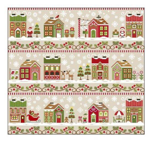 Stickvorlage Santa's Village
