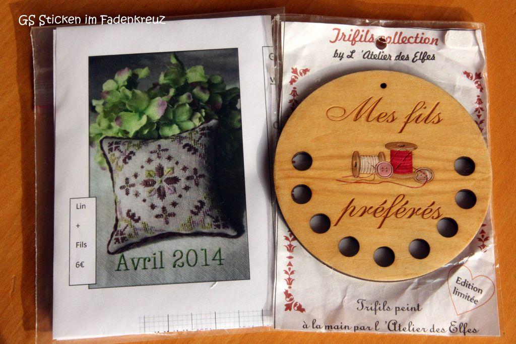 Für mich aus Paris: eine Stickpackung von Atalie und einen Garnsortierer