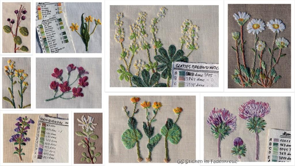 Collage Blumenbilder