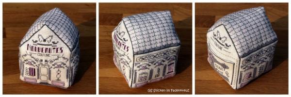 Nadelkissen in Form eines Hauses