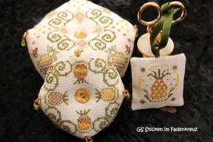 Biscornus mit Ananasmotiv