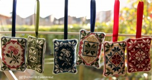 Weihnachtsanhänger mit Quakermotiven