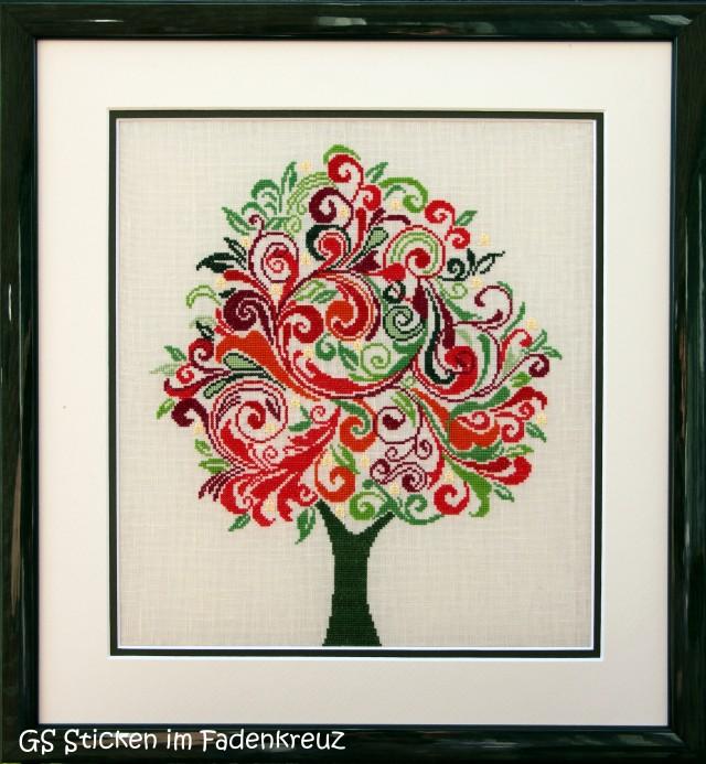 gestickter bunter Baum