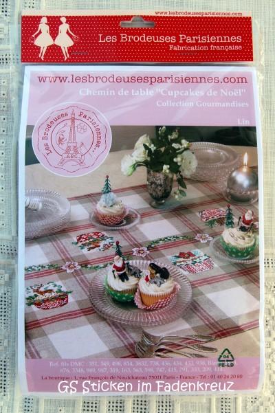 Läufer mit Cupcakes für die Weihnachtszeit