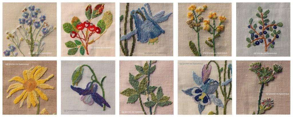 Collage mit allen Blumen