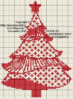 Freebie Roter Weihnachtsbaum