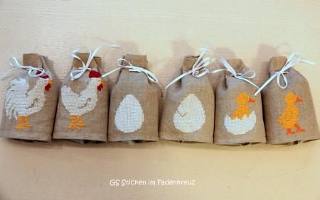 Sechs Eierwärmer