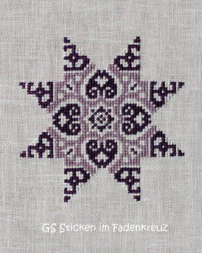 Stern in violett