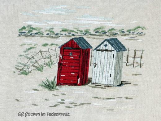Zwei Strandhütten