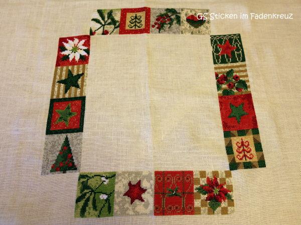 Tischdecke mit weihnachtlichem Muster