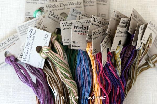 Ein dickes Bündel mit neuen Farben von Weeks Dye Works